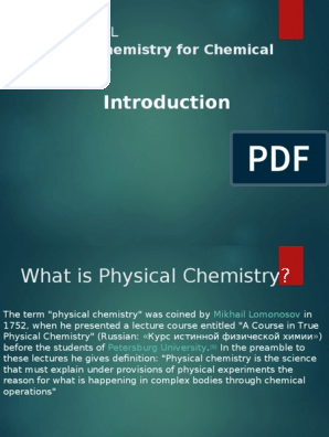 Physical mean does what chemistry Physical Chemistry