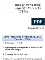 Procedures of Translating Culture-specific Concepts (CSCs) (1)