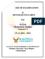 M.tech Mechanical (Design) Sem I
