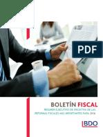 Boletin Fiscal Resumen Rf Mas Importantes 2016