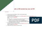 SSL Peer Certificate or SSH Remote Key Was Not OK