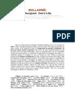 Derrida - Mallarmé