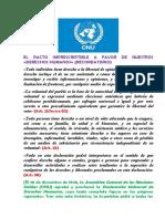 El Pacto Imprescriptible a Favor de Nuestros «Derechos Humanos»