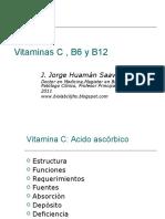 Vitaminas C ,B6 y B12