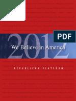2012 GOP Platform