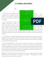 Las 17 Reglas Del Fútbol