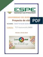 Proyecto de Vida David Fernando Santos Barre