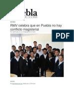 01-07-2016 Puebla on Line - RMV Celebra Que en Puebla No Hay Conflicto Magisterial