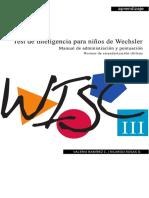 Wisc III v Ch Manual de Administracion y Puntuacion