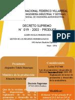 Decreto Supremo 019 2003