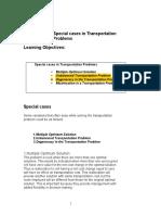 Lesson 18 Special mportation Problems