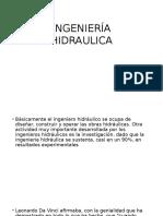 INGENIERÍA HIDRAULICA