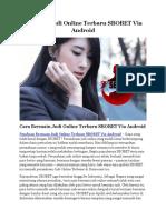 Bermain Judi Online Terbaru SBOBET Via Android