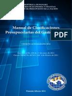 Manual de Clasificaciones Presupuestarias