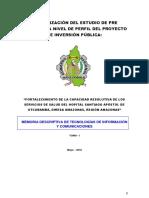 Memoria Descriptiva Comunicaciones Santiago Apostol Utcubamba