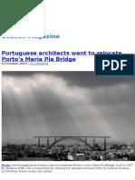 Dezeen Magazine - Portuguese Architects Want to Relocate Porto's Maria Pia Bridge