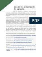 Clasificación de Los Sistemas de Producción Agrícola