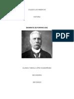 Biografía de Porfirio Diaz