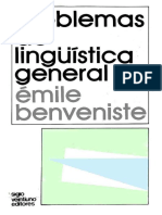 Emile Benveniste-Problemas de Linguistica General II-Siglo XXI Ediciones (1993)