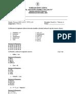 Prueba Diagnóstico-Matematica 1BGU