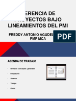 Gerencia de Proyectos Lineamientos Del Pmi