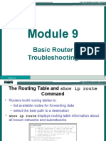 Basic Router Trouble Shooting