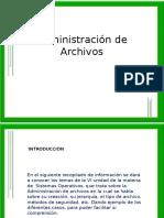 Administración de Archivos