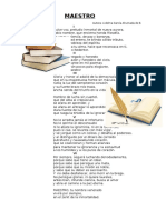 Poesia Al Maestro