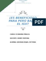 Es Beneficioso Para Perú Bajar El Igv