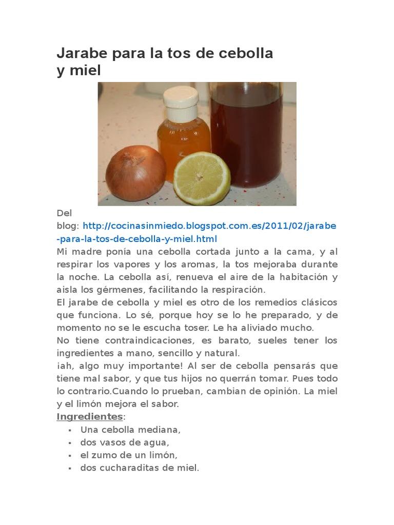 jarabe gestation solfa syllable tos scam cebolla y miel