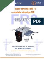 Catalogo de seccionador de potencia bajo carga - SFE