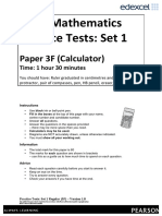 01 practice paper 1f set a Practice test paper 1f (set 3b) short: version 10 practice tests: set 3b short (1f) – version 10 this publication may only be reproduced in accordance with pearson education limited copyright policy.