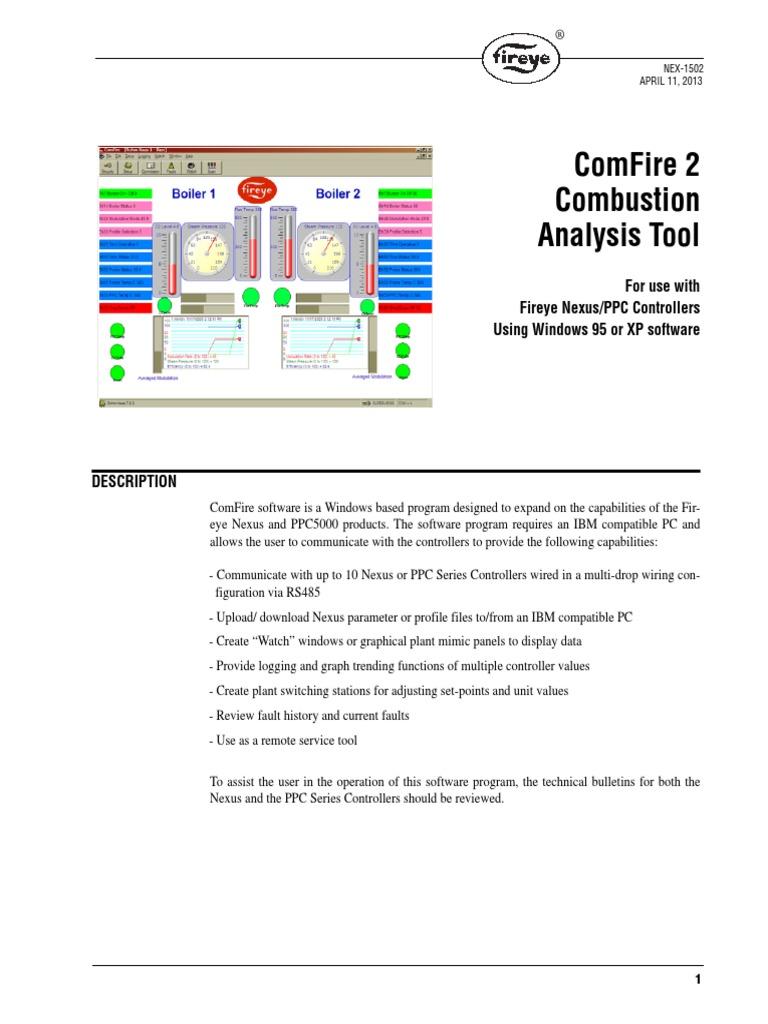 Fireye Nex 1502 Comfire Software Resistor Usb Rs485 Multidrop Wiring