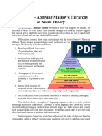 4.1 a Needs Approach Maslow