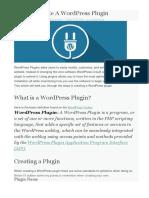 How to Create a WordPress Plugin