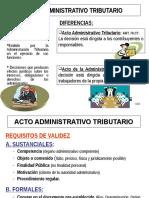 Actos Administrativos y Facultades de La Administracion