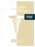 Abortion Guideline 2013