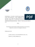 ESTRATEGIAS  DE MAPAS CONCEPTUALES BASADA EN LA TEORIA DE  NOVAK PARA ELEVAR EL  NIVEL INFERENCIAL DE LA COMPRENSIÓN LECTORA  EN EL AREA DE COMUNICACION EN LOS ESTUDIANTES DEL SEGUNDO GRADO DE LA INSTITUCIÓN EDUCATIVA Nº 17021