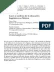 Luces y sombras de la educación lingüística en México