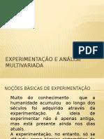 Experimentação e Análise Multivariada 2013-1