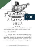 A Escola da Bíblia - Apresentação booklet