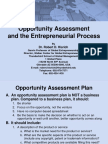 Opportunity Assessment and the Entrepreneurial Process