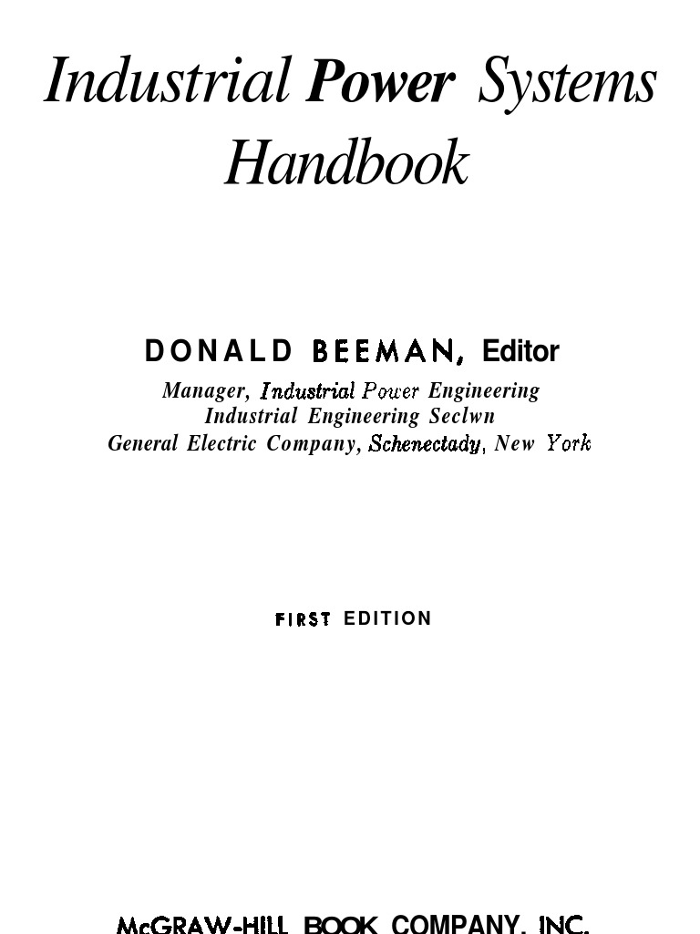 Industrial power systems handbook donald beeman electric industrial power systems handbook donald beeman electric generator electric current greentooth Image collections