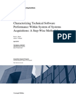 Characterizing Technical Software Performance Within System of Systems Acquisitions
