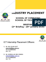 1505 Industry Placement Briefing - 2nd Briefing