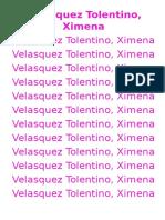 Velasquez Tolentino