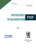 Fire Resistance of Galvanised Members