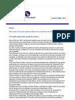 Newsletter 37 Juillet 2016 FR