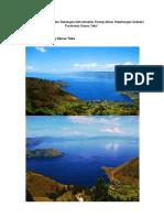 Kondisi Eksisting Danau Toba 1 Juni 2016