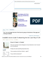 Bradd80's Secret Guide to Mastering the Don Juan Way of Life _ Page 2 _ SoSuave Discussion Forum